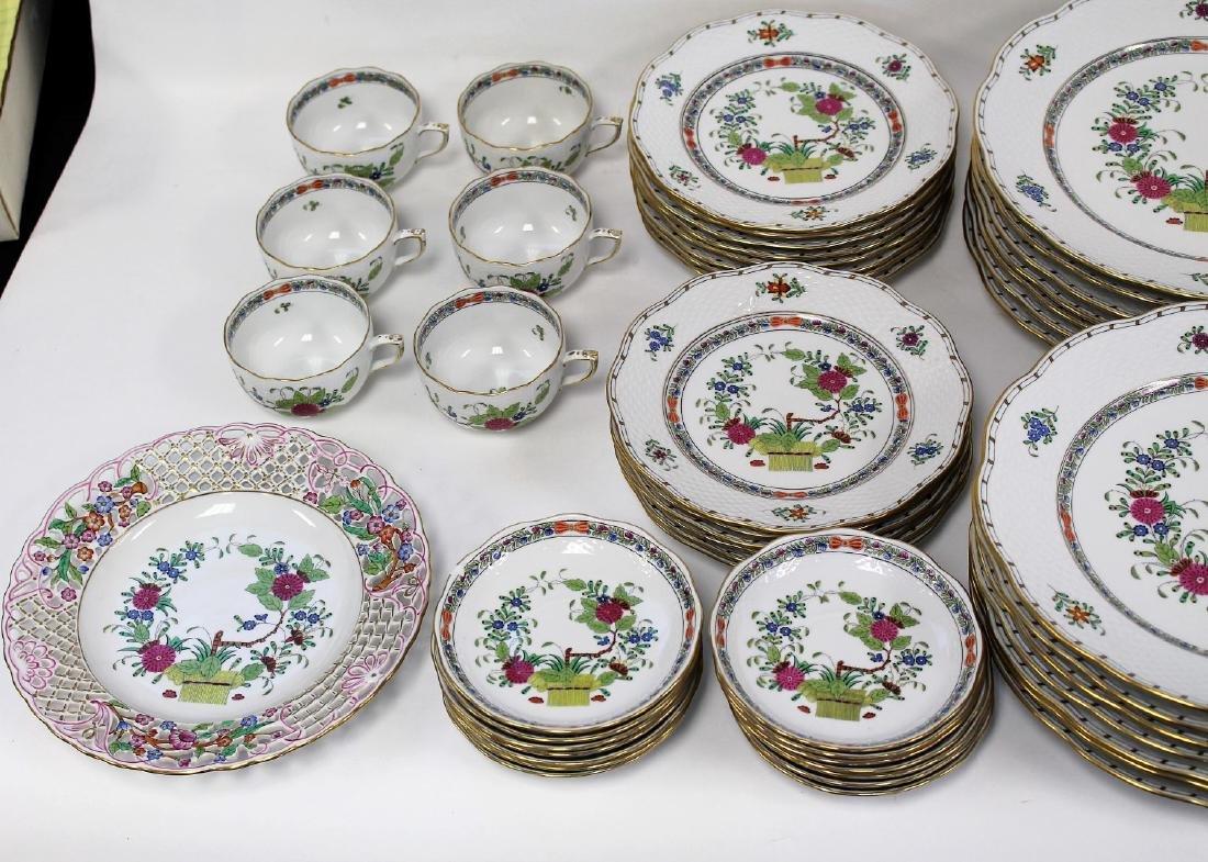 Set of Herend Porcelain Dinnerware(70+) - 2