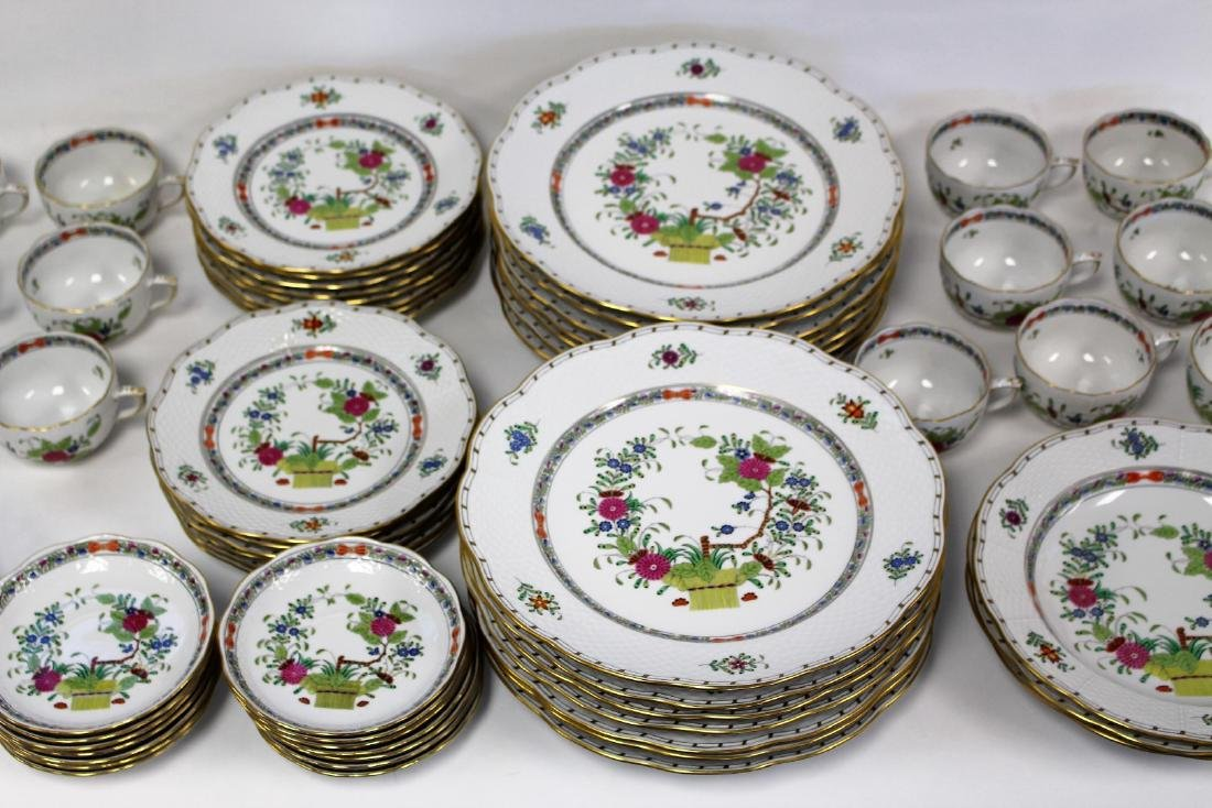 Set of Herend Porcelain Dinnerware(70+) - 3