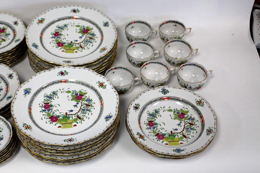 Set of Herend Porcelain Dinnerware(70+) - 4
