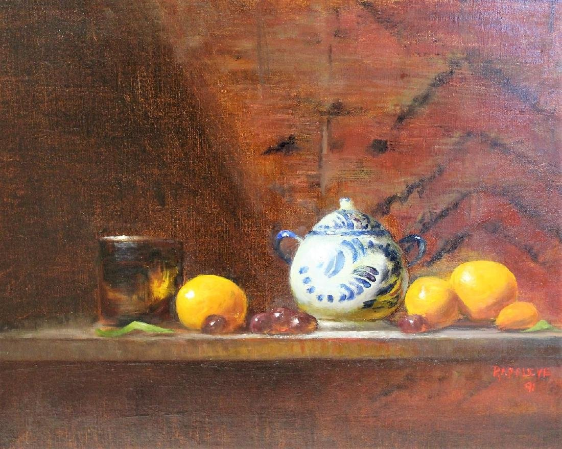 Eva Rappley; 20thC. Oil Still Life Signed