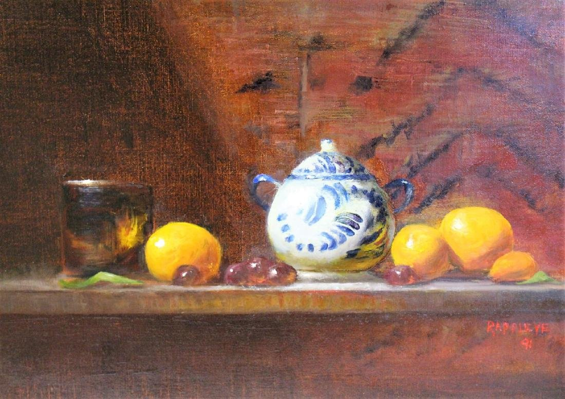 Eva Rappley; 20thC. Oil Still Life Signed - 2
