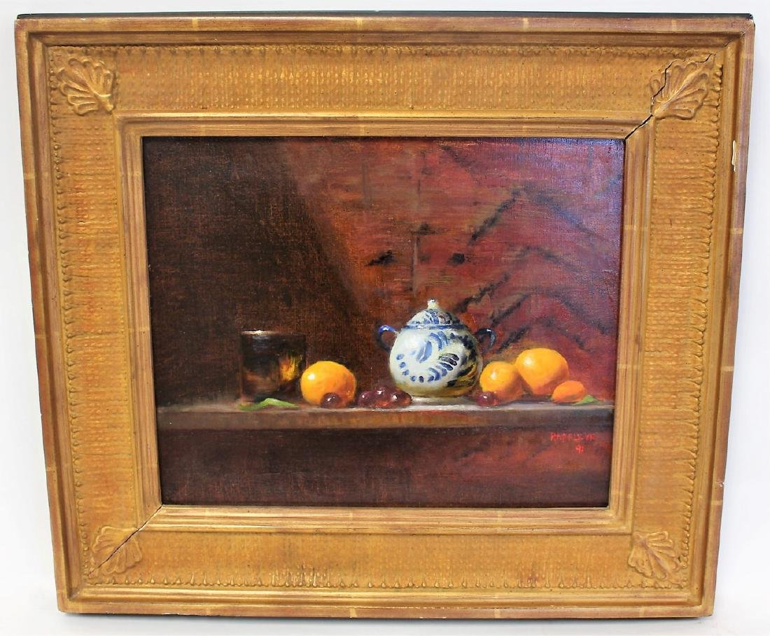 Eva Rappley; 20thC. Oil Still Life Signed - 3