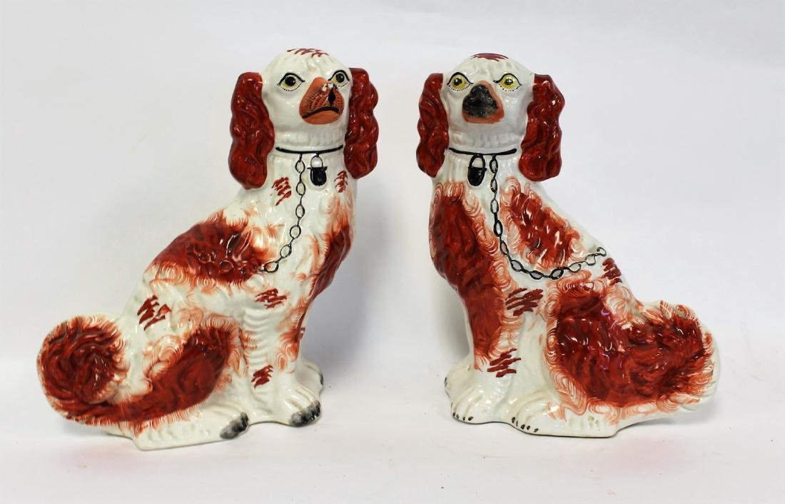 Pair of Stafforshire Porcelain Dogs