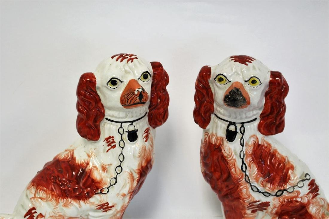 Pair of Stafforshire Porcelain Dogs - 2