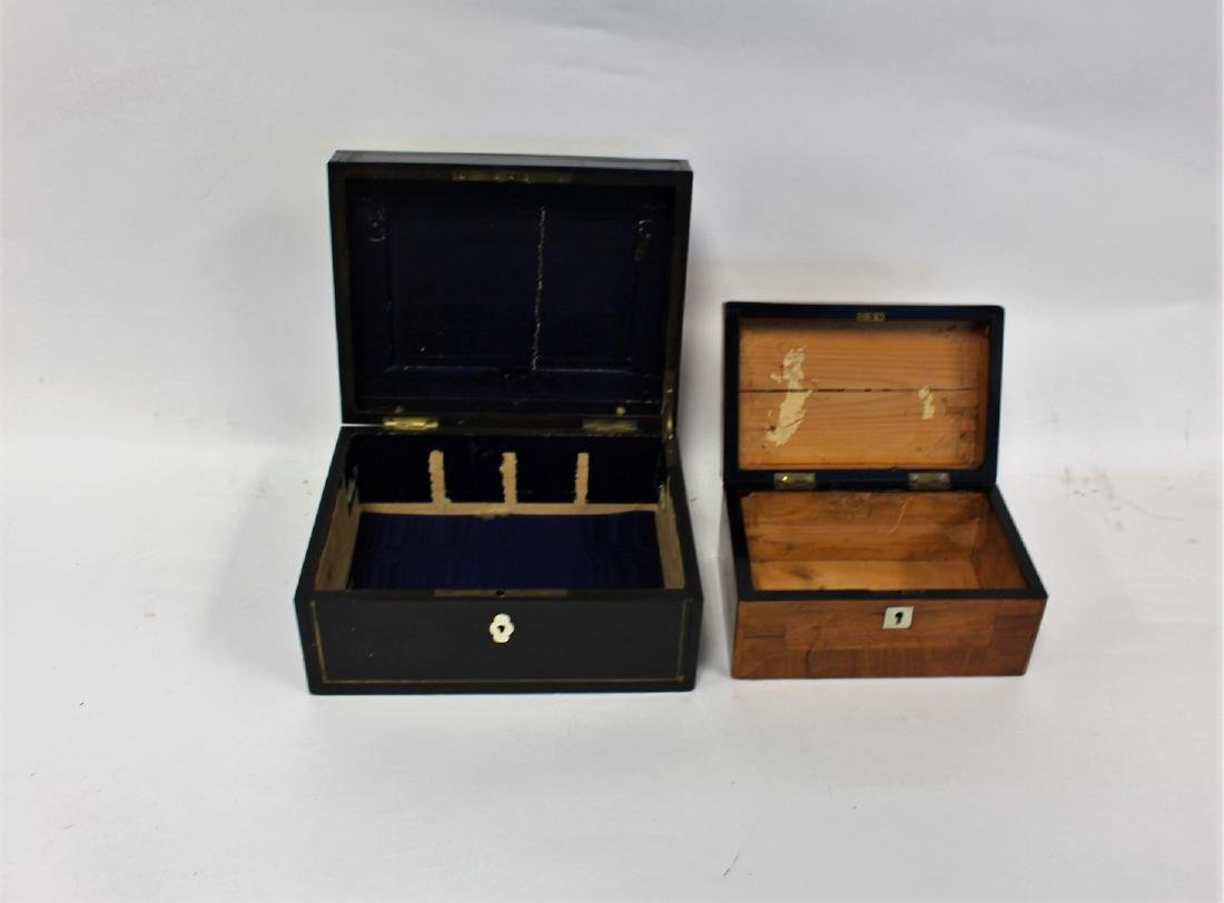 Two(2) English Inlaid Wood Boxes - 3
