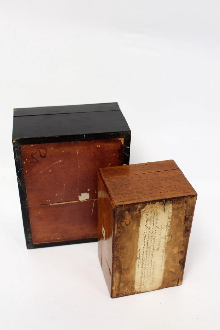 Two(2) English Inlaid Wood Boxes - 4
