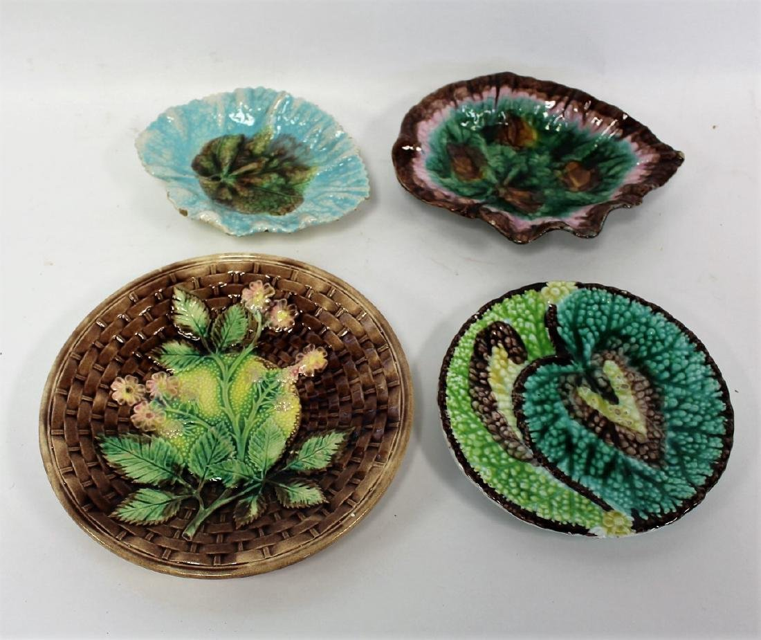 Four(4) Miscellaneous Majolica Items