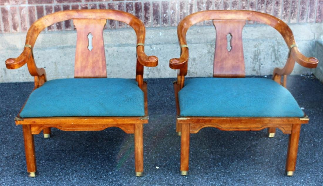 Pair of Chinese Teakwood Chairs