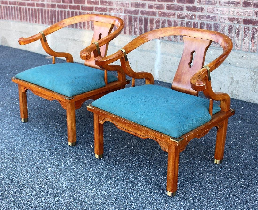 Pair of Chinese Teakwood Chairs - 3
