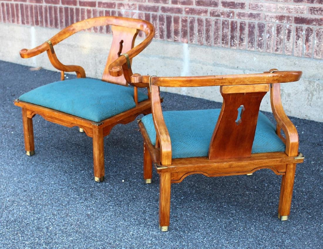 Pair of Chinese Teakwood Chairs - 4