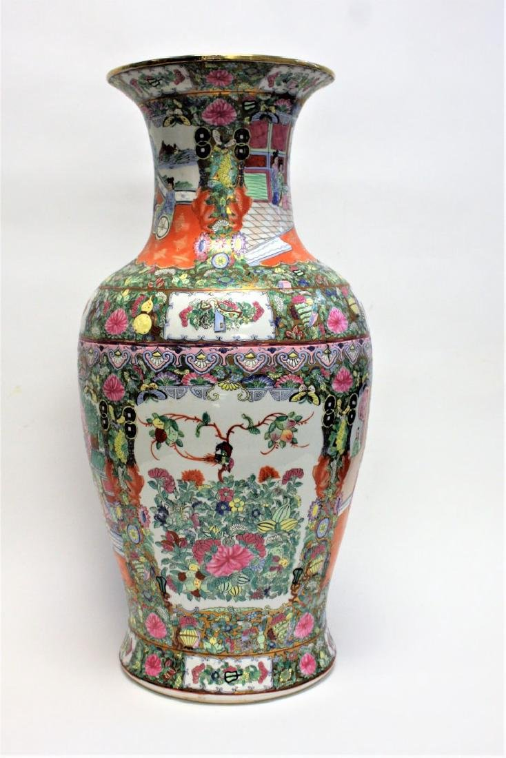 Chinese Famille Rose Porcelain Temple Vase - 4