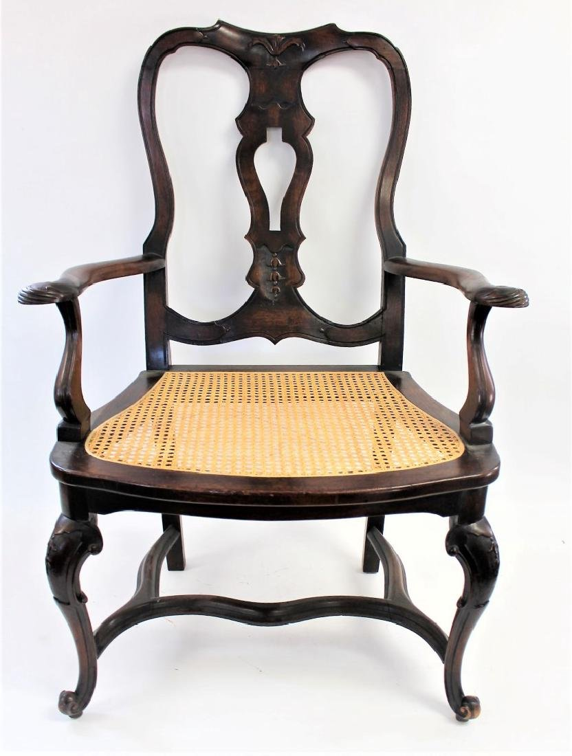 Georgian Mahogany Arm Chair - 2
