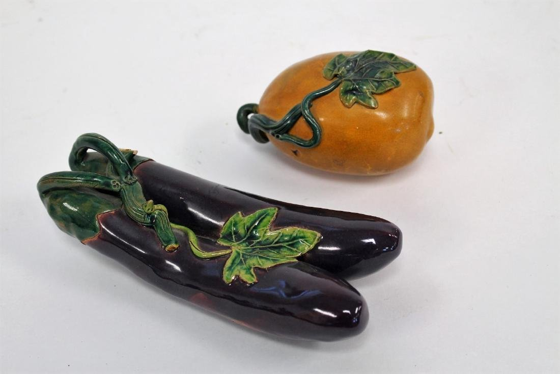 Two(2) Asian Pottery Fruits