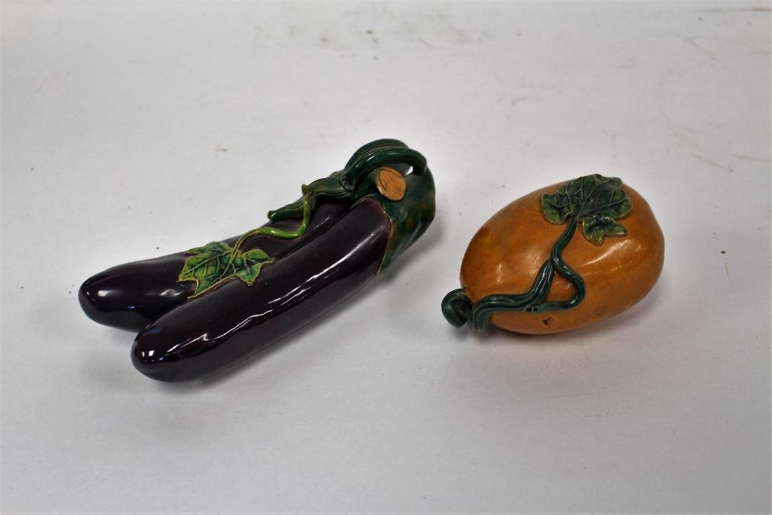 Two(2) Asian Pottery Fruits - 2