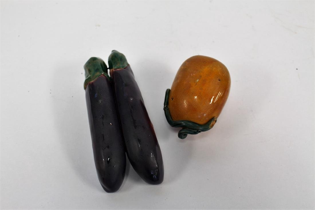 Two(2) Asian Pottery Fruits - 3