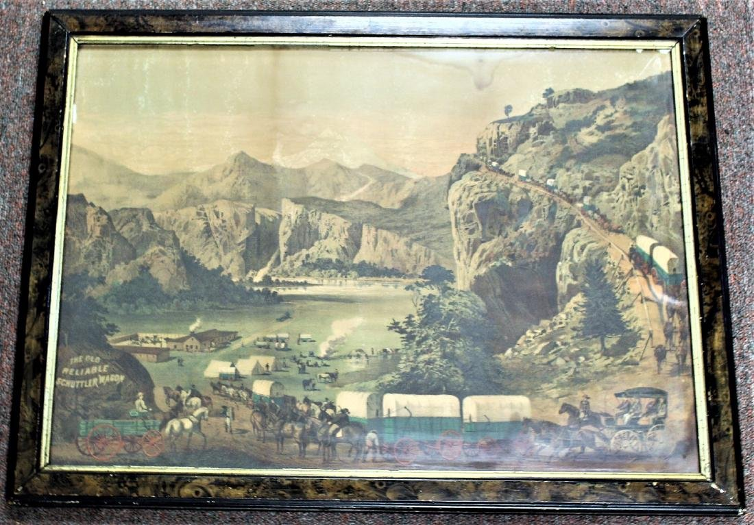 19thC. Chromolithograph Advertisement - Schuttler - 8
