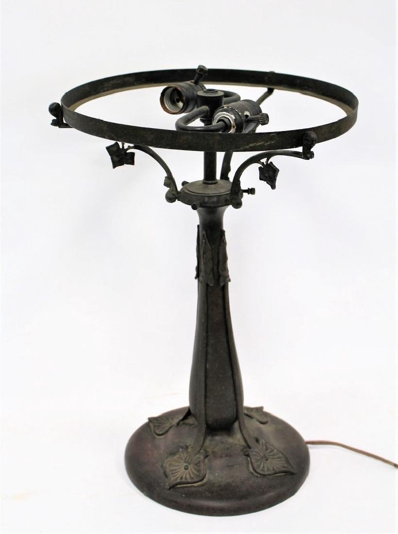 Art Nouveau Bronze Lamp Base
