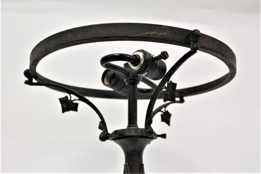 Art Nouveau Bronze Lamp Base - 3