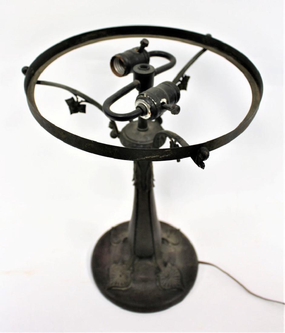 Art Nouveau Bronze Lamp Base - 4