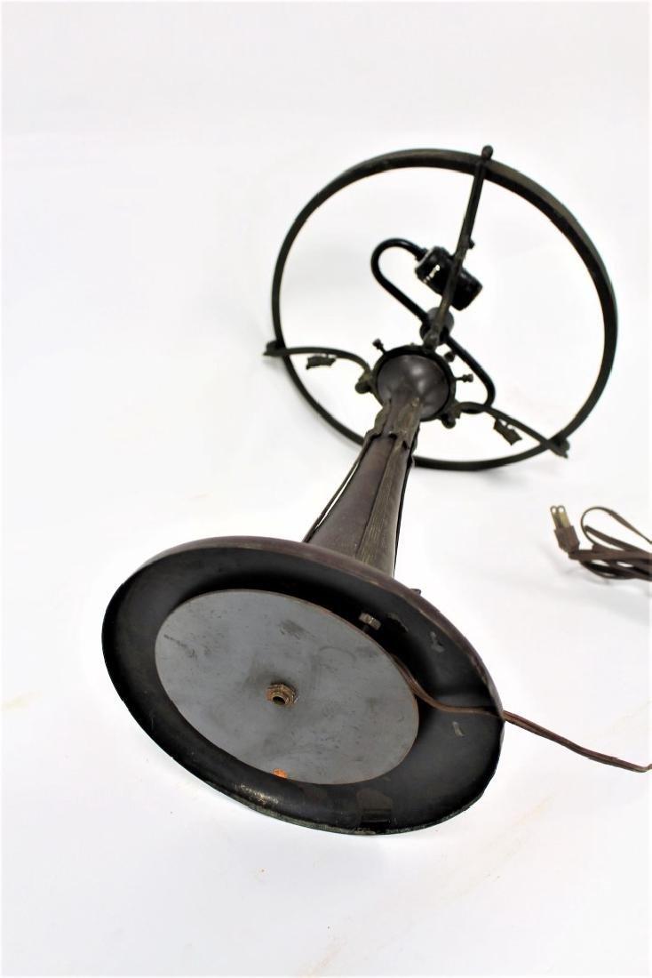 Art Nouveau Bronze Lamp Base - 5