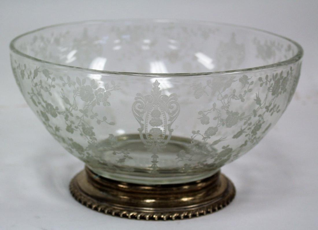 Fostoria Sterling Mounted Glass Bowl