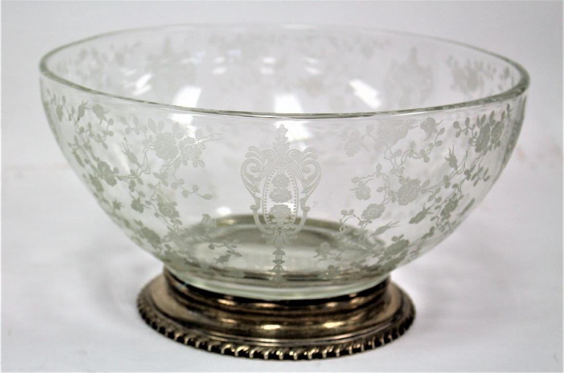 Fostoria Sterling Mounted Glass Bowl - 2