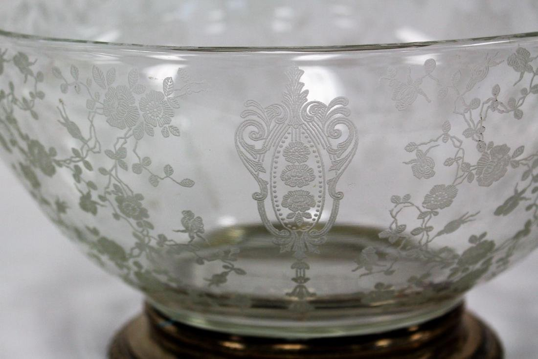 Fostoria Sterling Mounted Glass Bowl - 3