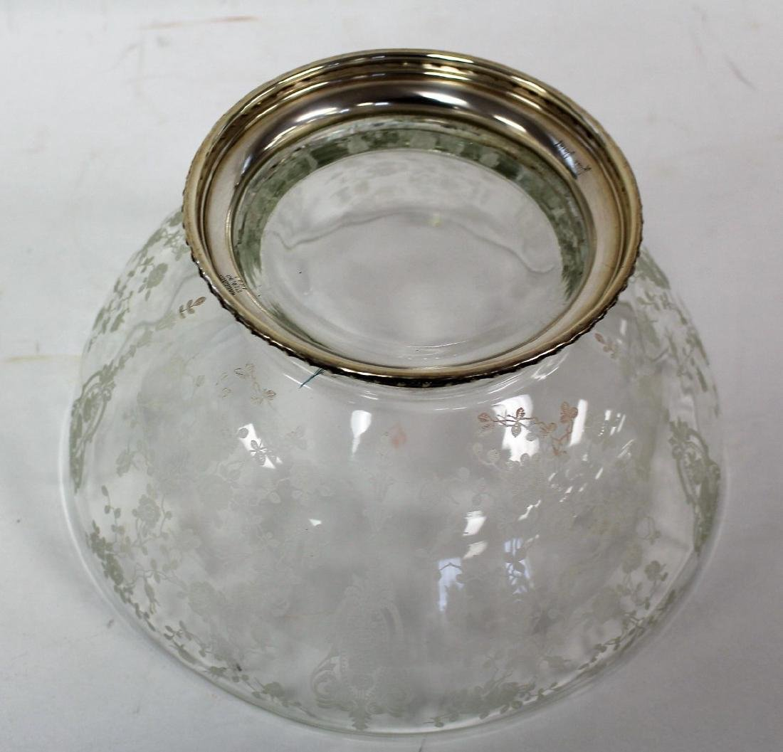 Fostoria Sterling Mounted Glass Bowl - 4