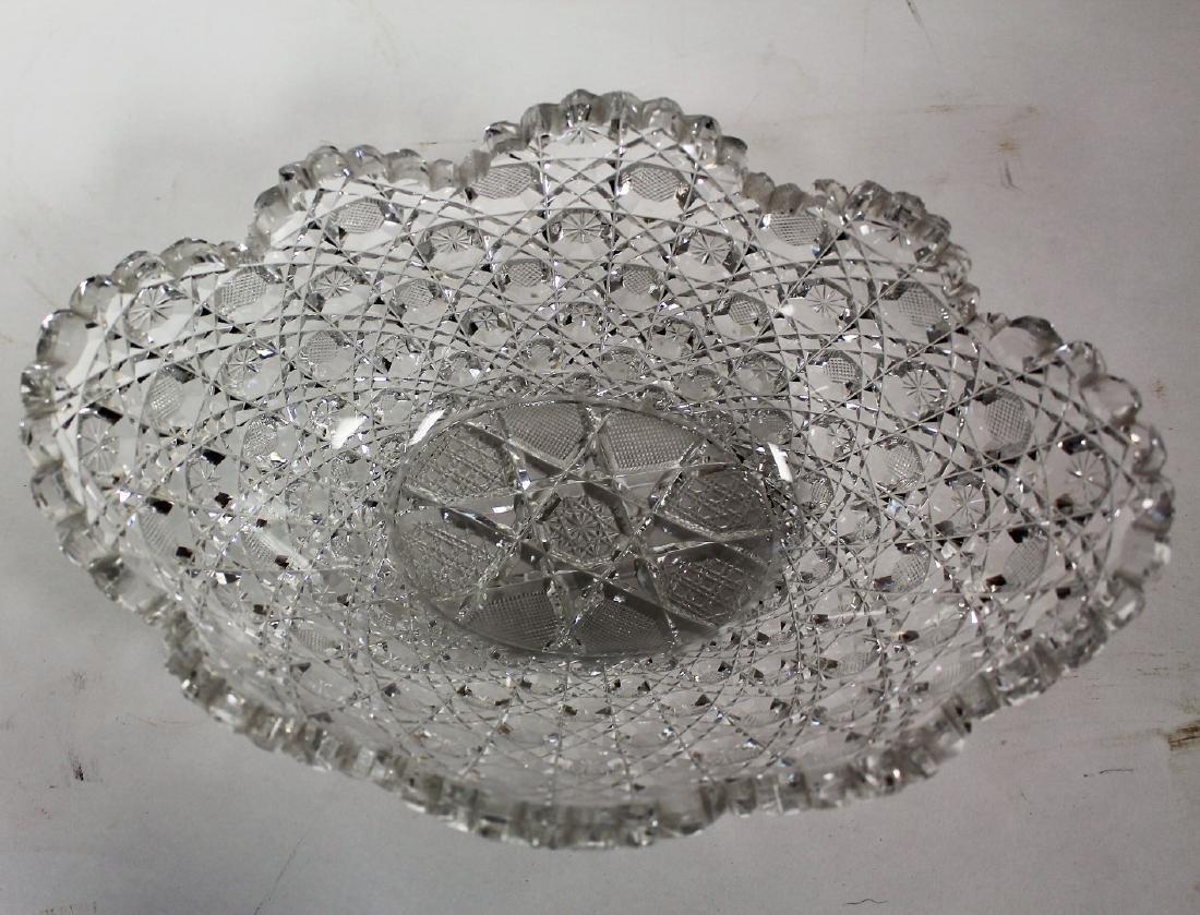 American Brilliant Cut Glass Bowl - 3