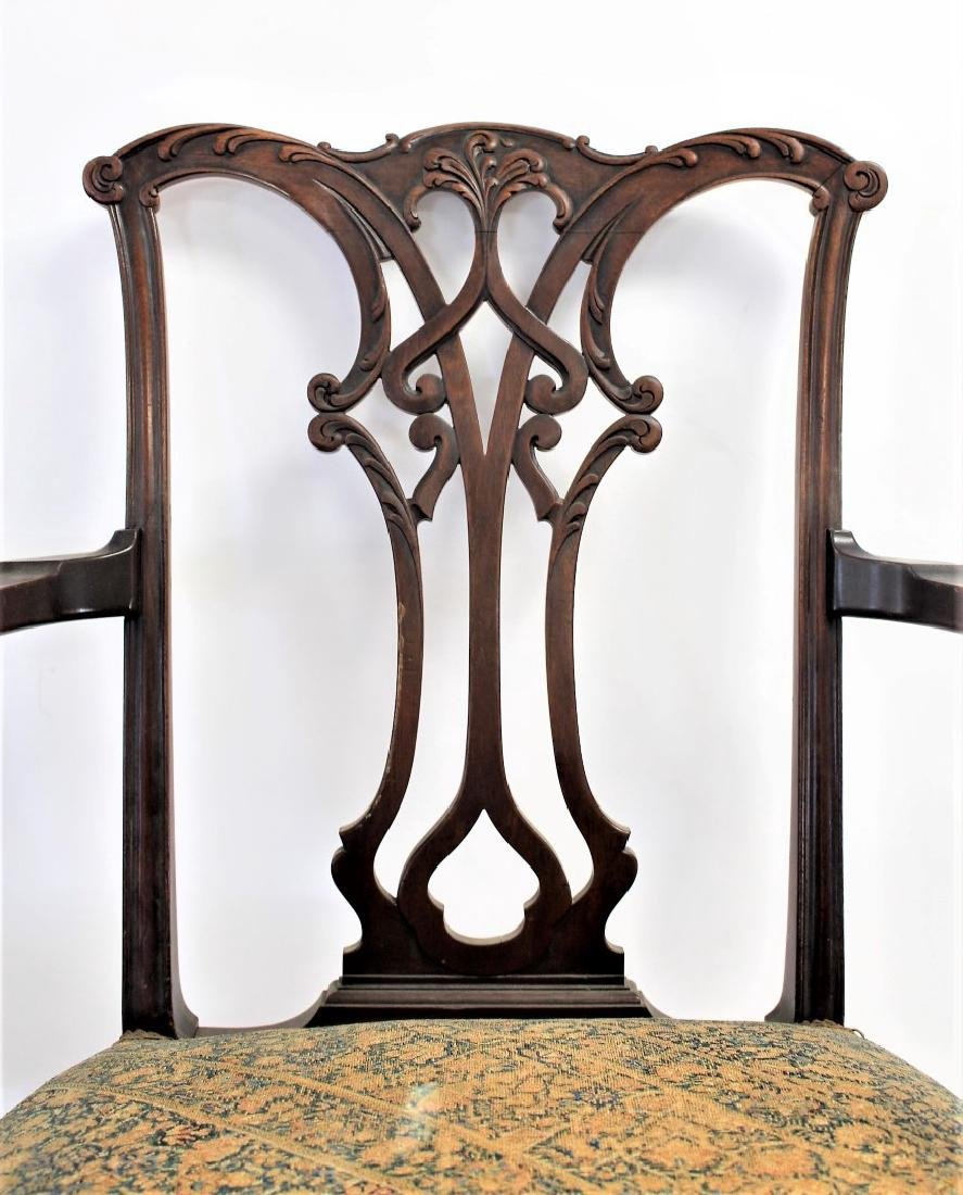 Pair of Chippendale Mahogany Arm Chairs - 2