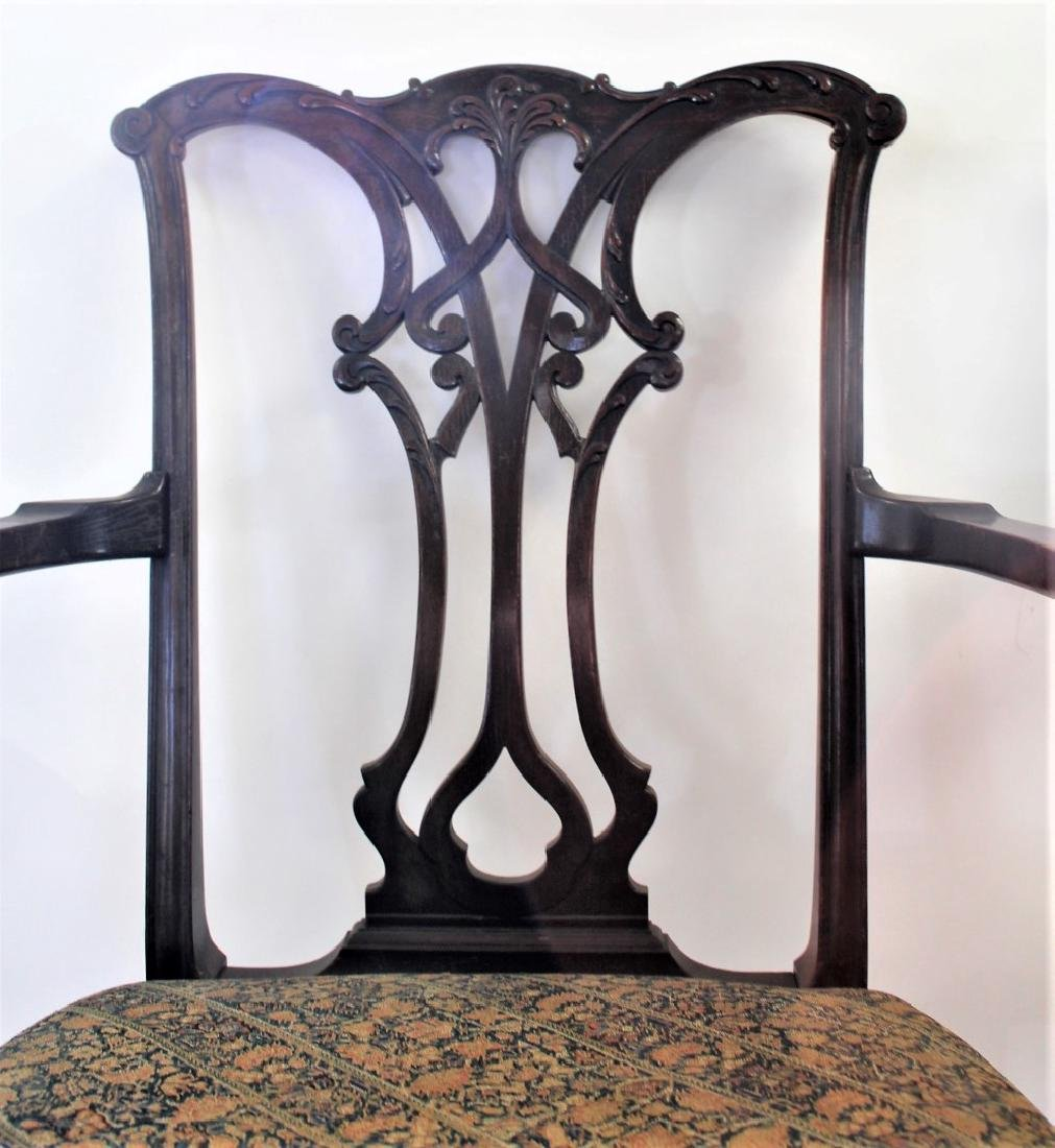 Pair of Chippendale Mahogany Arm Chairs - 3