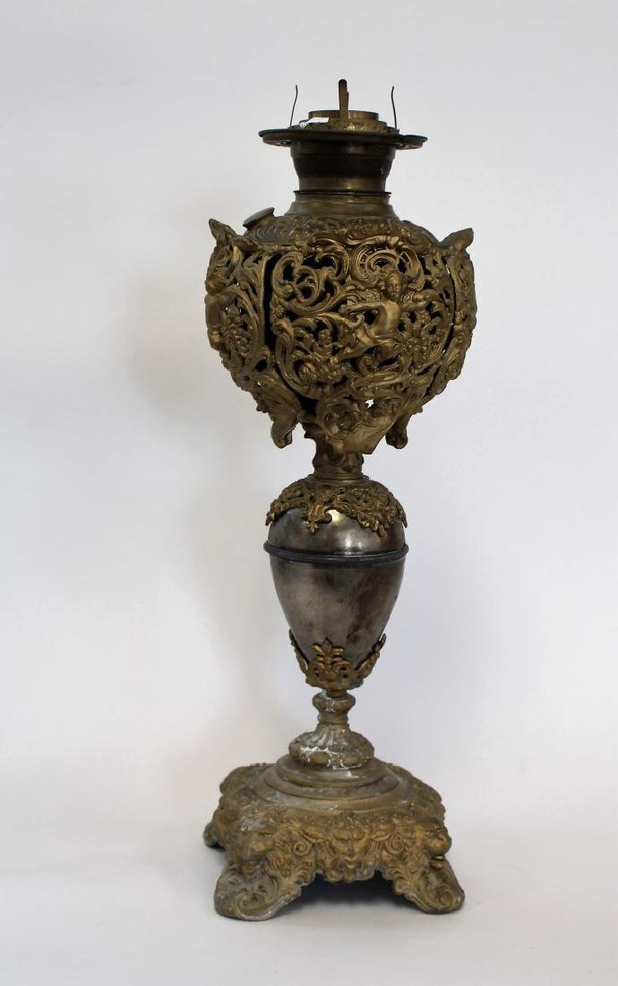 Fancy Victorian Banquet Lamp