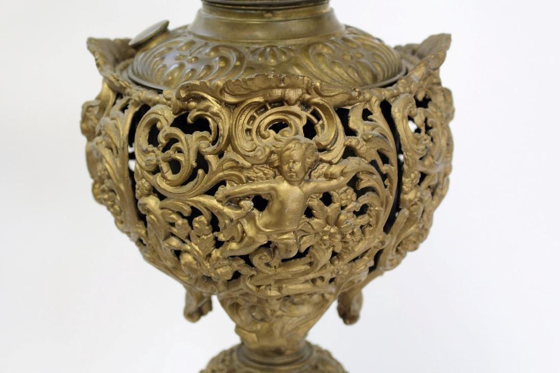 Fancy Victorian Banquet Lamp - 3