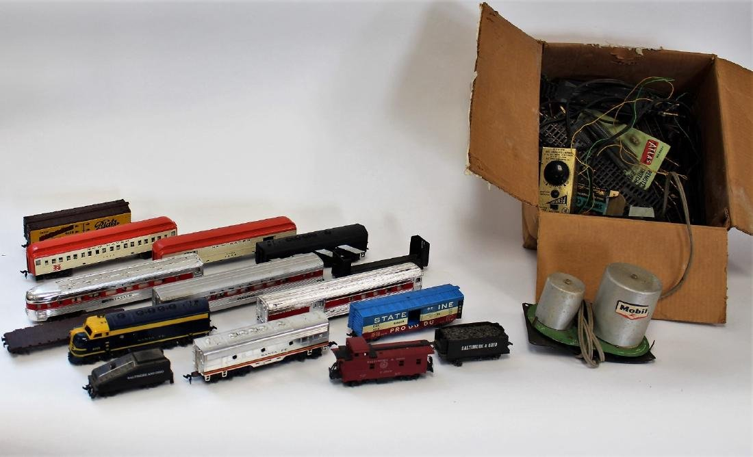 Lot of Vintage Toy Trains and Accessories
