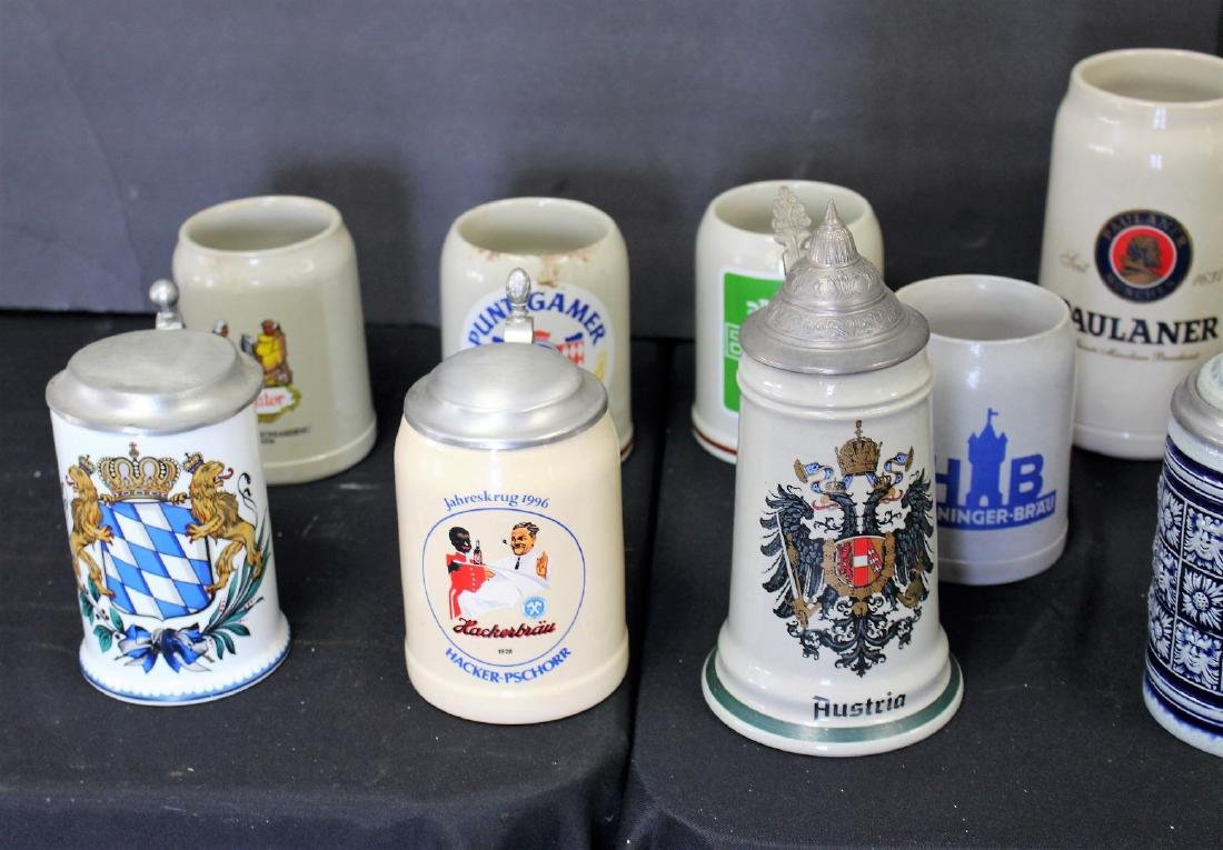 Lot of Miscellaneous Stoneware Steins(12) - 2