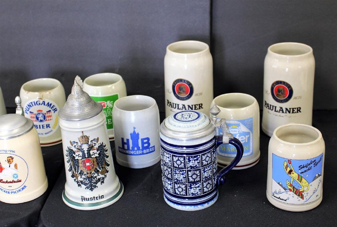 Lot of Miscellaneous Stoneware Steins(12) - 3