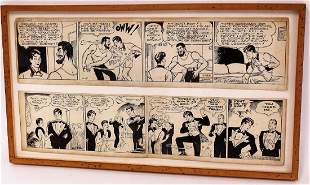 Al G. Capp; Two(2) Pen and Ink Comic Strips Signed