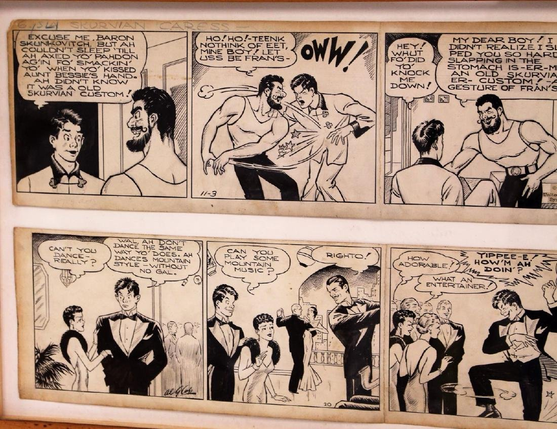 Al G. Capp; Two(2) Pen and Ink Comic Strips Signed - 2
