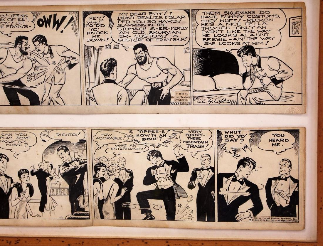 Al G. Capp; Two(2) Pen and Ink Comic Strips Signed - 3