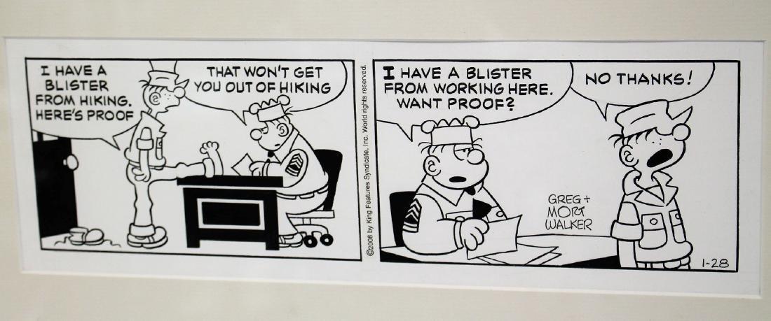 Greg and Mort Walker; Two(2) Beetle Bailey Comic Strips - 2