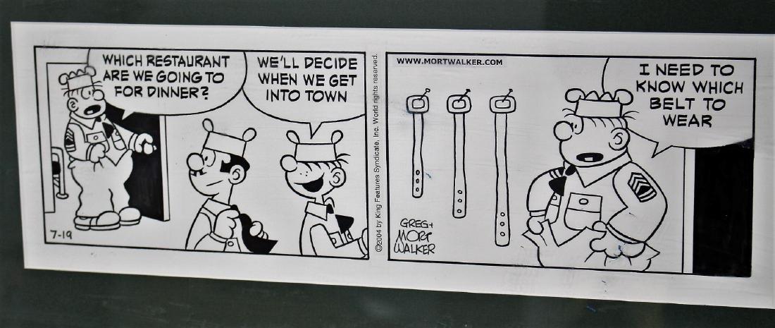 Greg and Mort Walker; Two(2) Beetle Bailey Comic Strips - 3
