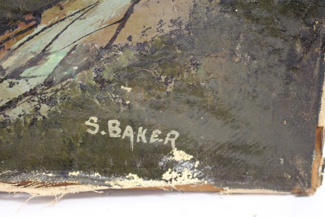 S. Baker; American Oil Landscape Signed - 3