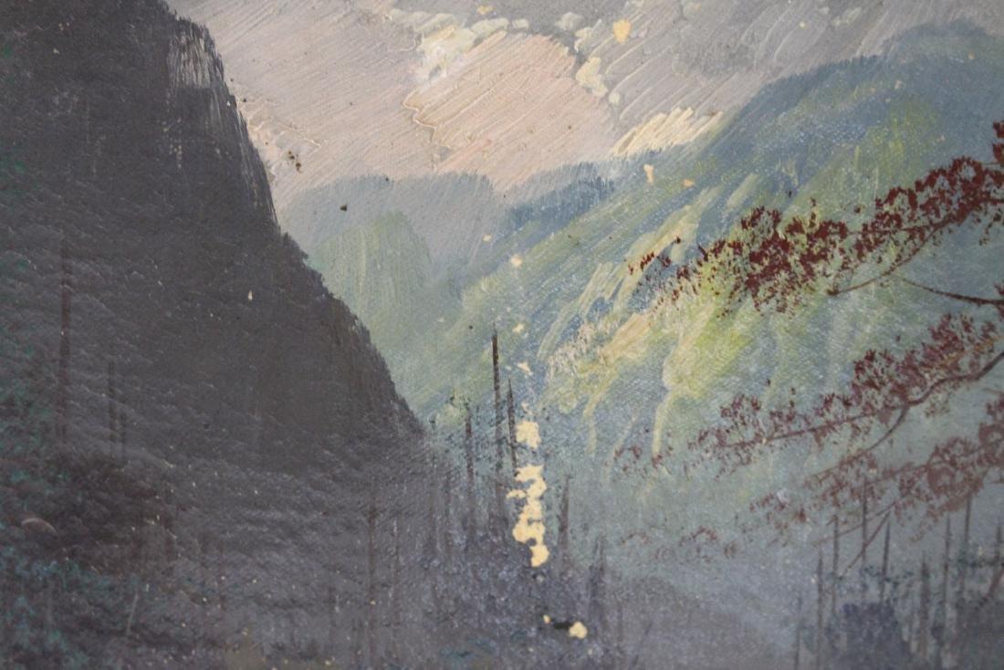 S. Baker; American Oil Landscape Signed - 5