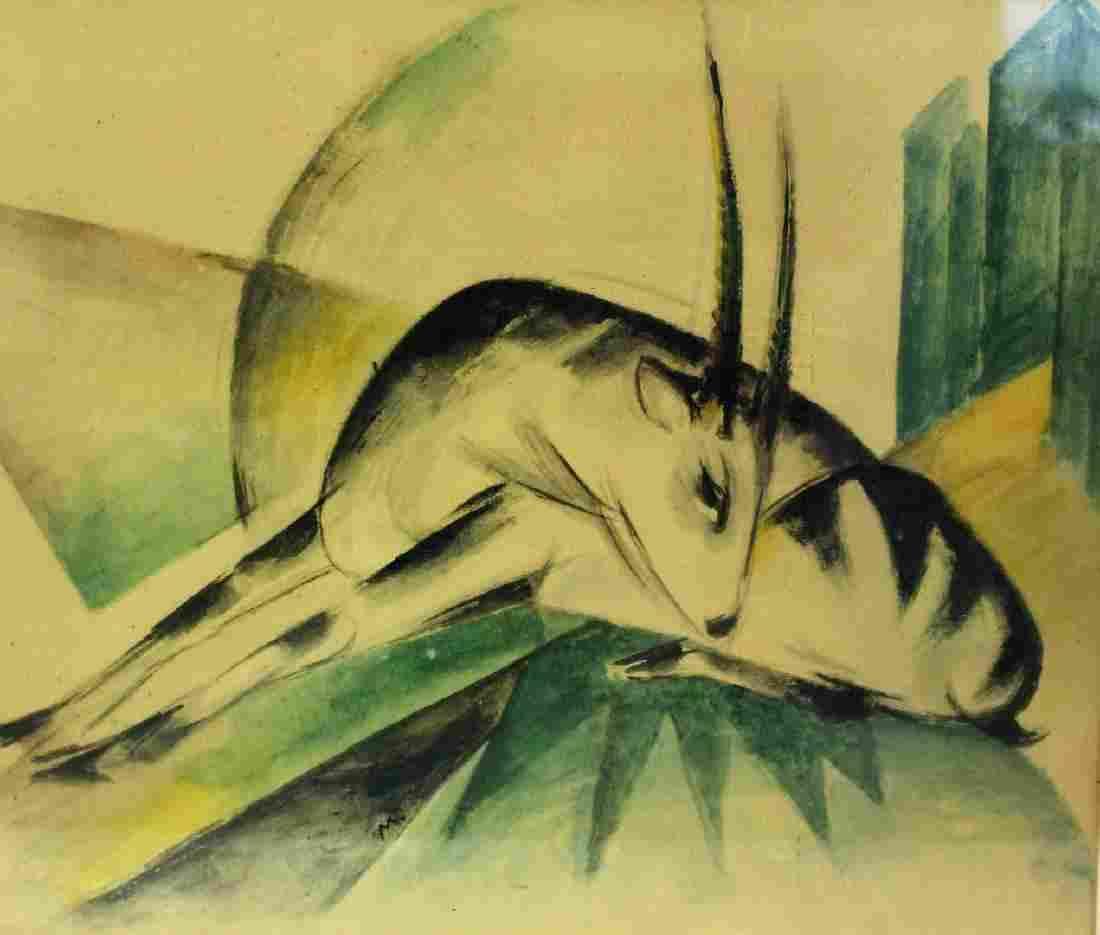 Franz Marc Print - Gazelle
