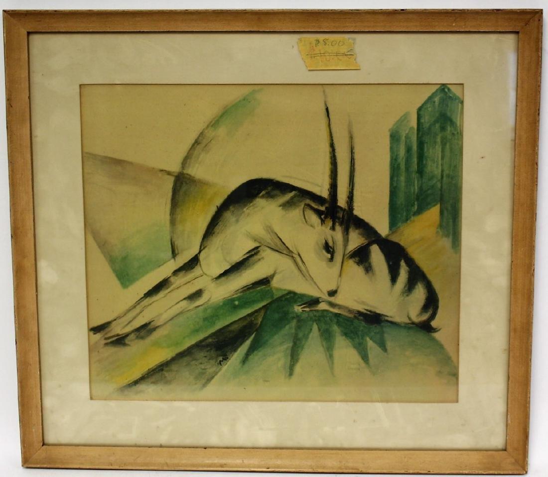 Franz Marc Print - Gazelle - 3
