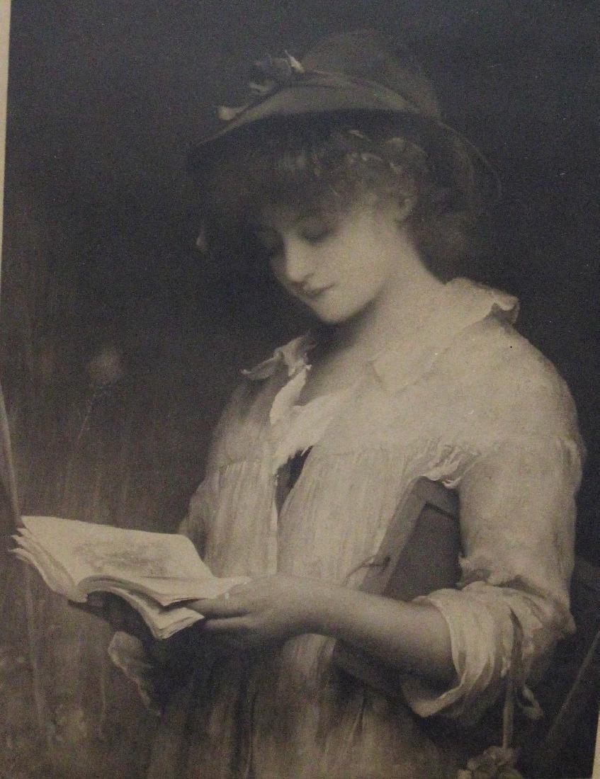 Framed Print - Girl Reading Book