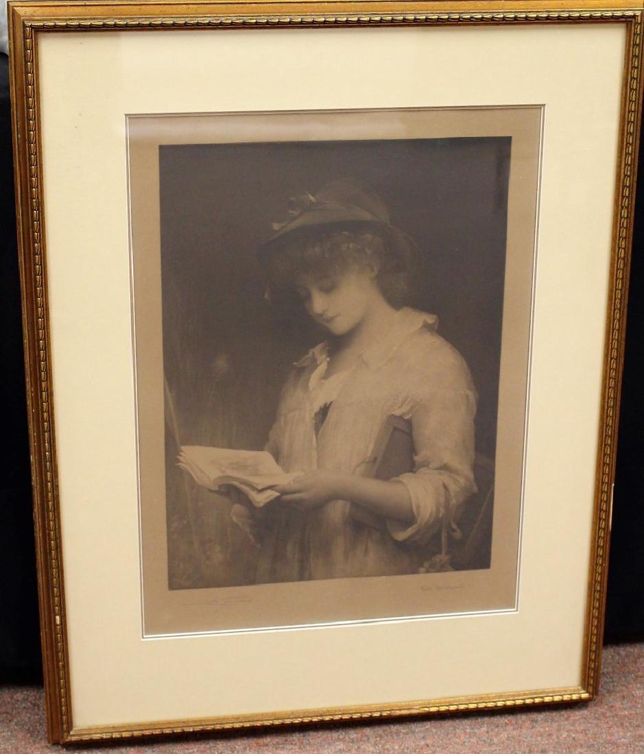 Framed Print - Girl Reading Book - 2