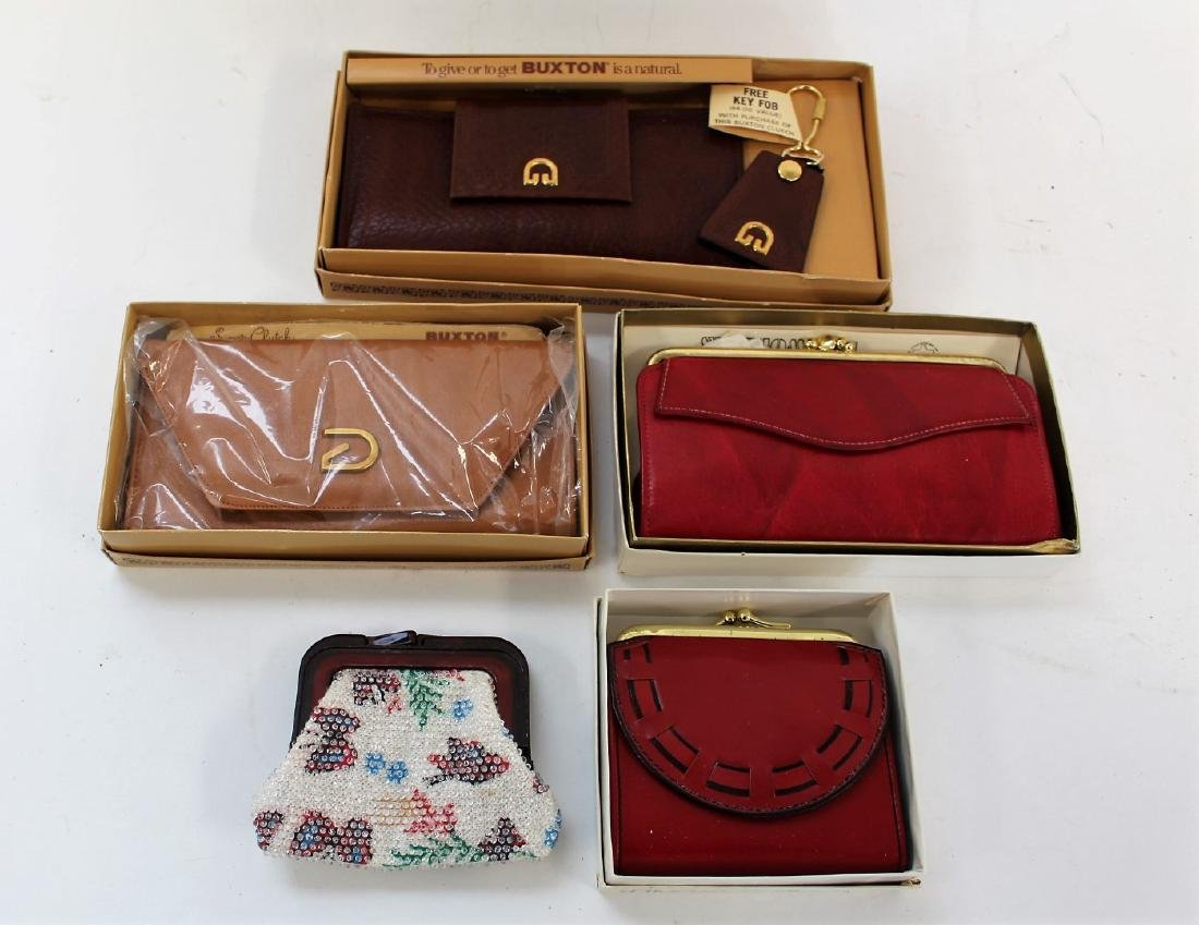 Lot of Vintage Purses and Wallets(5)