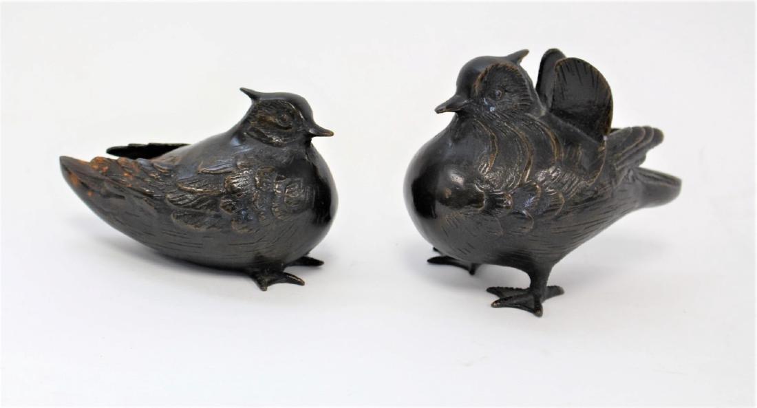 Two(2) Bronze Birds