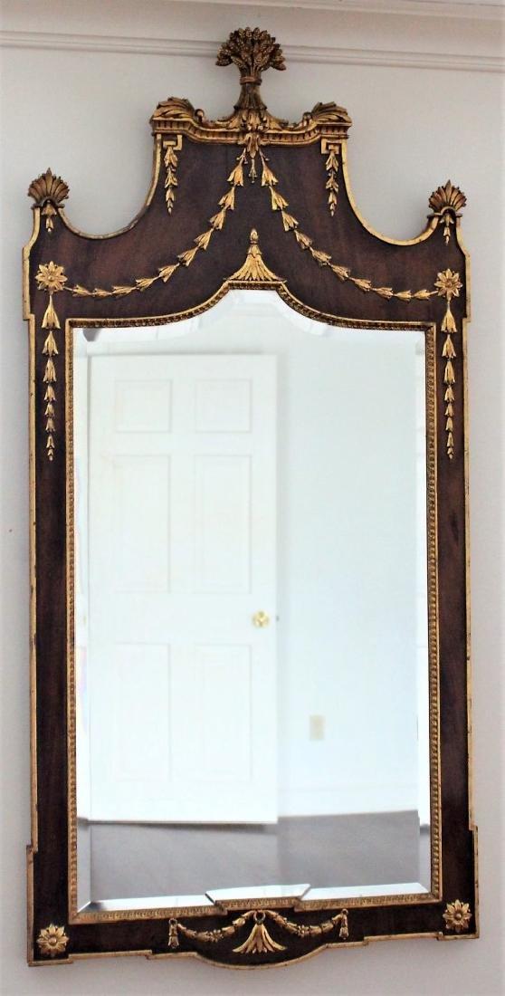 Regency Walnut and Gilt Mirror